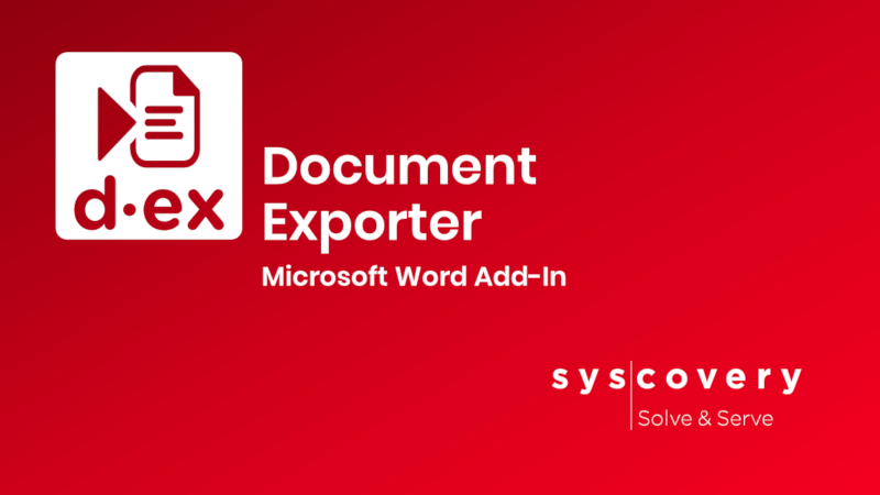 Document Exporter Word Add-In